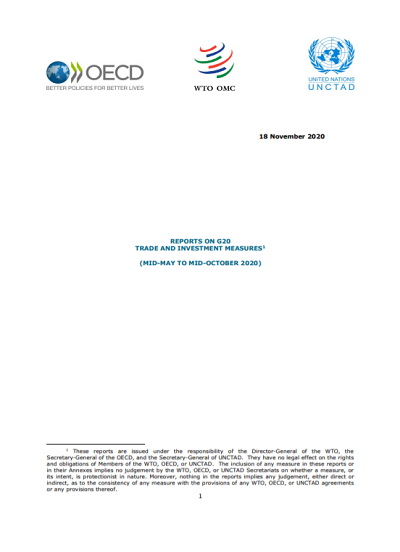 Report on G20 Trade and Investment Measures