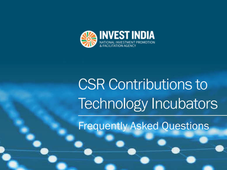 Frequently Asked Questions booklet on CSR contributions to Technology Incubators