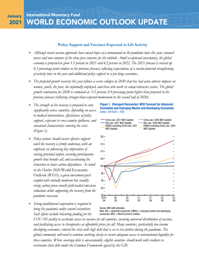 World Economic Outlook Update: Policy Support and Vaccines Expected to Lift Activity
