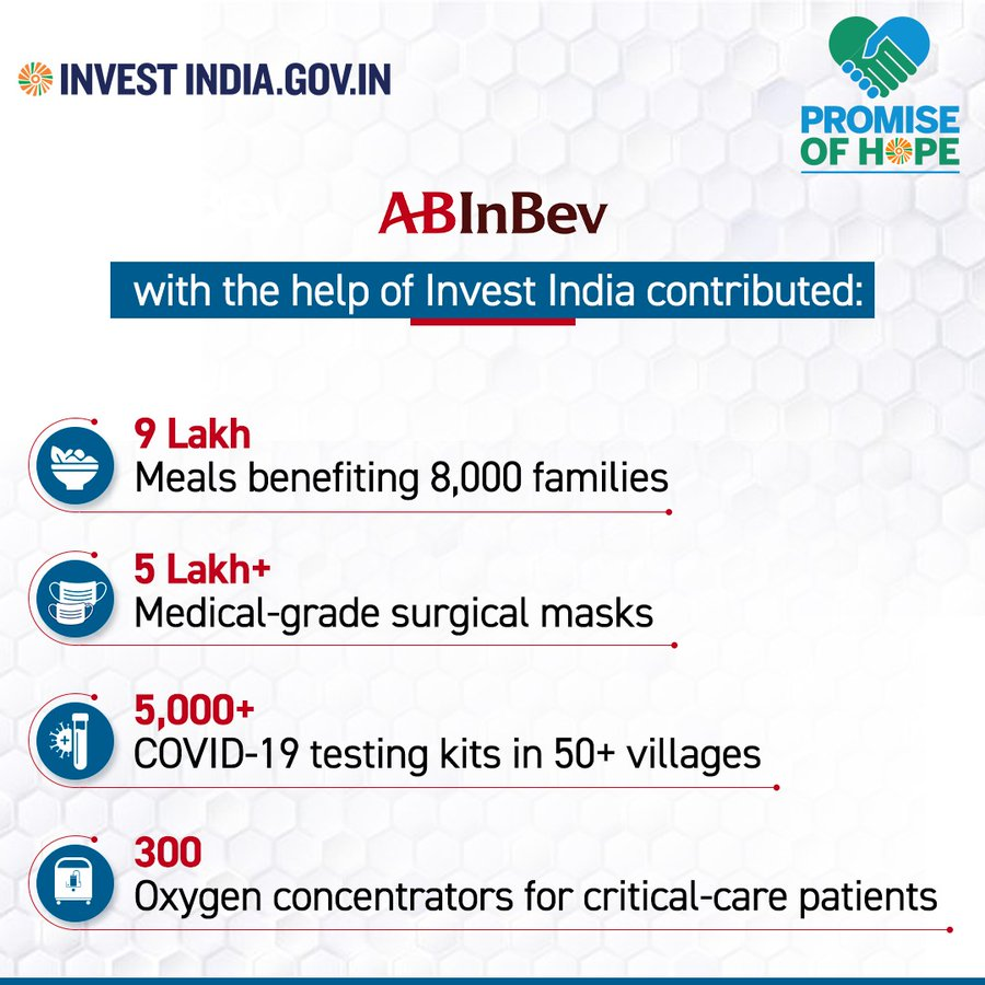 To enhance India's health & medical infrastructure, ABInBev is building a specialised COVID-19 hospital with ICU facilities in Bengaluru