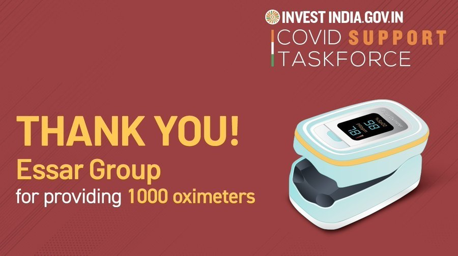 Essar, facilitated by Invest India, has extended its support to bolster India's #COVID19 relief efforts.