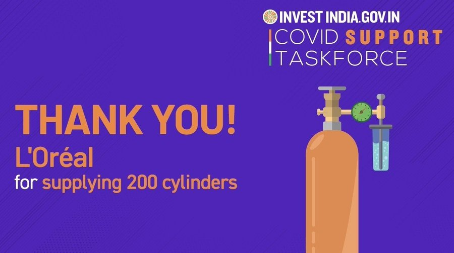 Loreal India facilitated by Invest India is strengthening India's healthcare infrastructure to fight COVID19!