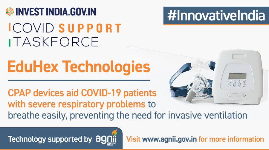 EduHex Technologies is developing innovative critical care equipment to aid COVID19 patients