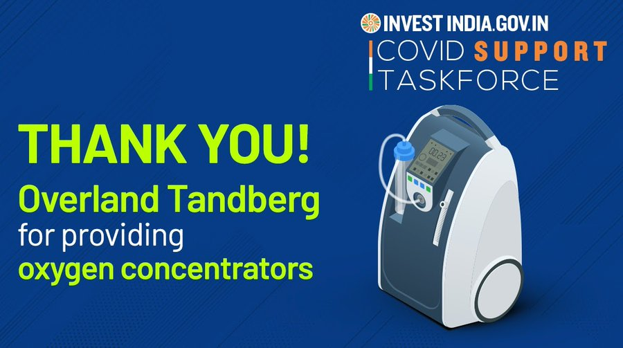 Overland Tandberg, facilitated by Invest India, is strengthening India's healthcare response to the COVID19 pandemic.