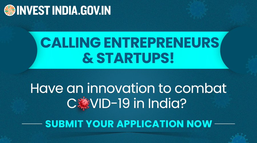 Are you a startup or an entrepreneur innovating to strengthen India's fight against COVID19?