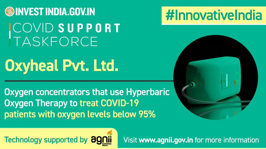 Oxyheal Pvt. Ltd. innovating to strengthen India's efforts to overcome the COVID19 outbreak!