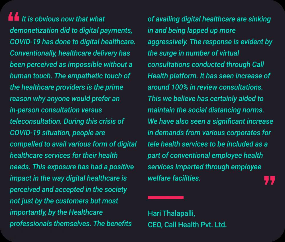 Hari Thalapalli CEO , Call Health Pvt. Ltd