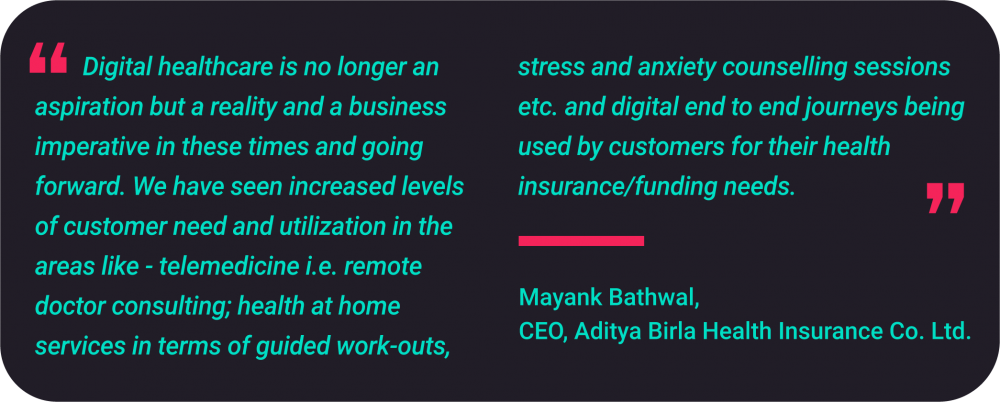 Mayank Bathwal. Chief Executive Officer at Aditya Birla Health Insurance