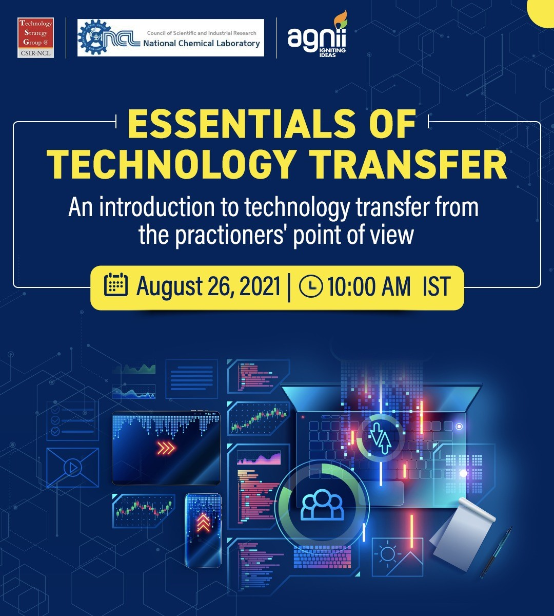 AGNIi and CSIR-NCL partner for 'Essentials of Technology Transfer'
