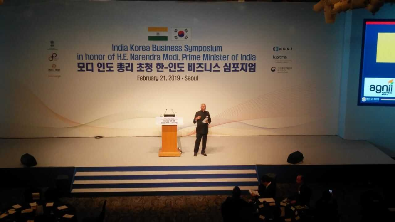 Mr Deepak Bagla at India Korea Symposium