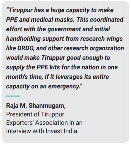 PPE kit manufacturing in Tiruppur