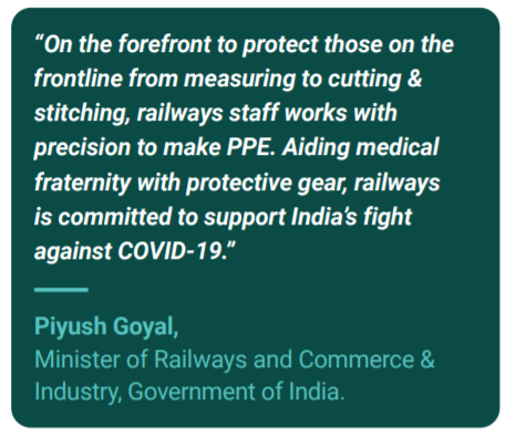 Piyush Goyal on PPE Kit use
