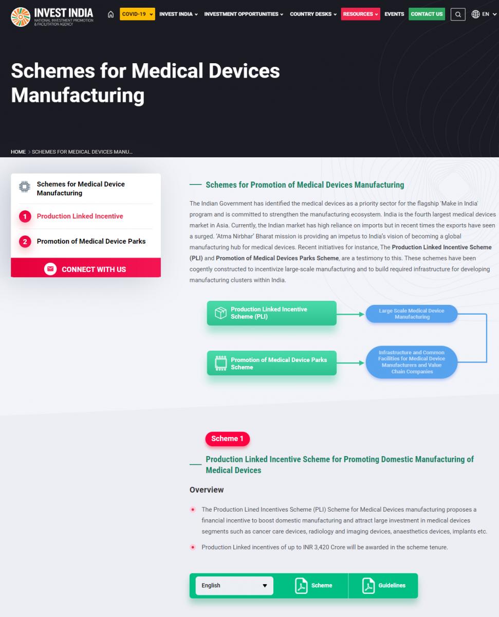 Schemes for medical