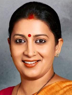 Smriti Zubin Irani Minister of Textiles Govt of India