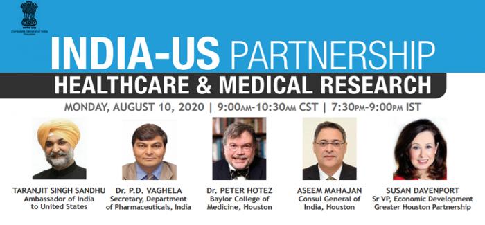 India US Partnership Webinar - Healthcare & Medical Research