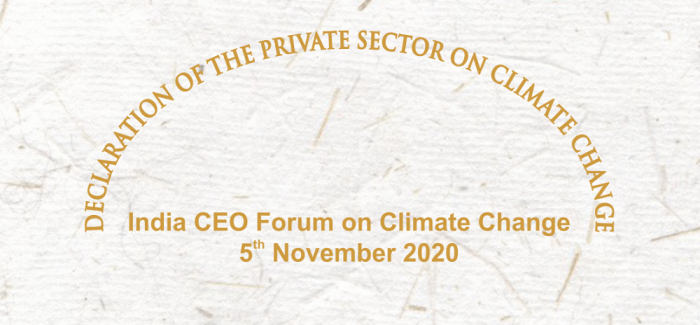 Declaration of the private sector on Climate Change