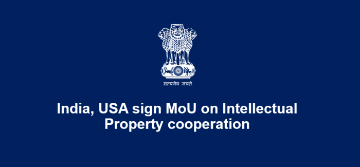 India, USA sign MoU on Intellectual Property cooperation