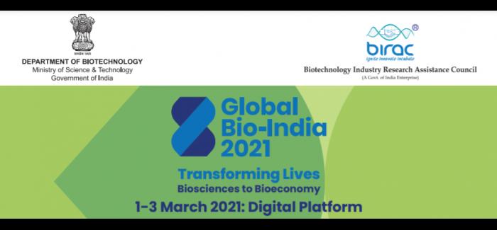 Global Bio-India 2021:Transforming Lives Biosciences to Bioeconomy