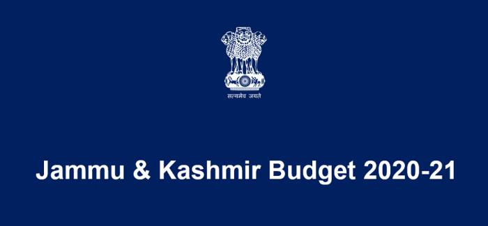 Jammu & Kashmir Budget 2020-21