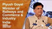 Hon'ble CIM Shri Piyush Goyal's message on launch of Global Innovation Index 2020