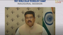 Union Minister Dharmendra Pradhan addresses first world solar technology summit