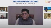 Hon'ble CIM Shri Piyush Goyal spricht auf dem ersten Weltgipfel für Solartechnologie der International Solar Alliance