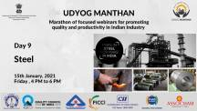 Udyog Manthan | Industry-led expert panel discussions on Steel Industry