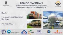 Udyog Manthan | Industry-led expert panel discussions on Transport and Logistics Services Industry