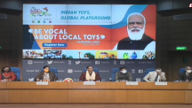 Hon'ble CIM Shri Piyush Goyal and Union Ministers Dr Ramesh Pokhriyal 'Nishank' and Smt Smriti Zubin Irani jointly launch the website of 'The India Toy Fair-2021'