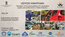 Udyog Manthan | Industry-led expert panel discussions on Automotive & Auto Components
