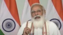 """总理宣布印度和孟加拉国之间的"""" Maitri Setu""""开幕,在Tripura启动基础设施项目"""
