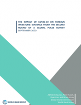 The Impact of COVID-19 On Foreign Investors: Evidence from the Second Round of a Global Pulse Survey