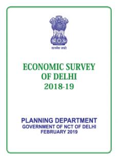 Eco Survey Delhi