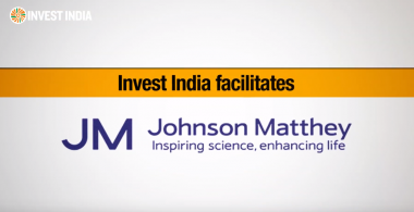 Invest India facilitates Johnson Matthey