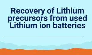 Recovery Of Lithium Precursors From Used Lithium Ion Batteries