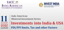 Investments into India & USA: FDI/FPI Limits, Tax and other Factors