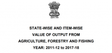 State-wise and item-wise value of output from Agriculture, Forestry and Fishing (2011-12 to 2017-18)